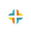 cross shape abstract technology logo vector image