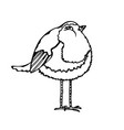 cute adorable bird isolated on a white background vector image