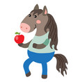 cute cartoon horse vector image