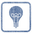 lamp bulb fabric textured icon vector image
