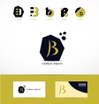 Letter B logo icons set vector image