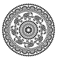 Round Mehndi Indian Henna tattoo pattern vector image