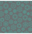 Snowflake winter Christmas seamless green and grey vector image