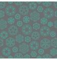 Snowflake winter Christmas seamless green and grey vector image