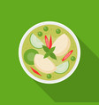 thai food chicken with green curry vector image