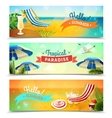 Tropical Beach Banners Set vector image
