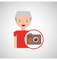 old man fathers day gift camera vector image