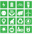 Set of energy saving icons - part 1 vector image