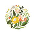 floral icon vector image vector image