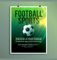 abstract football sports flyer poster template vector image