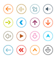 Outline Arrows Set in Circles vector image vector image