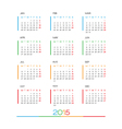 2015 Full Calendar template vector image