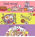 Breakfast Banner Set vector image
