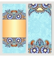 card for vintage design ethnic pattern vector image
