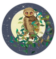 Owl and Moon vector image