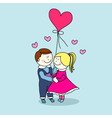 Young Couple in Love with Balloon vector image vector image