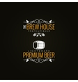 beer label set background vector image