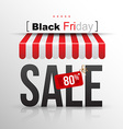 Black Friday sale poster with tag banner up to 80 vector image