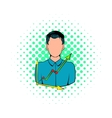 Businessman and graph icon comics style vector image