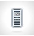 Digital climate control flat color icon vector image