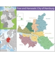 Free and Hanseatic City of Hamburg vector image