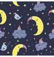 Good night seamless pattern vector image