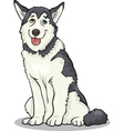 husky or malamute dog cartoon vector image