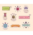 Knitting and sewing labels set vector image
