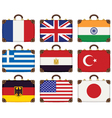 flags bags vector image