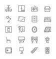 home furniture thin icons vector image