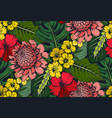 Seamless pattern with compositions of hand vector image