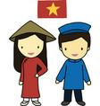 Vietnam traditional costume vector image