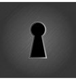 Keyhole on metal background - vector image
