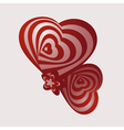 Two abstract heart vector image