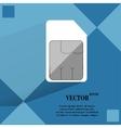 SIM card Flat modern web button on a flat vector image