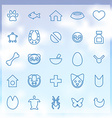 25 animals pets icons set vector image