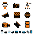 video and photo icon vector image