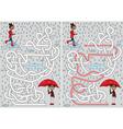 Rainy day maze vector image vector image