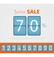 Super sale analog flip clock design With set of vector image