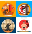 Martial Arts Concept Icons Set vector image