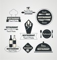 restaurant retro logo vector image