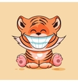 Tiger cub with huge smile vector image
