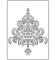 Black openwork Christmas tree vector image