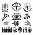 beer pub labels set logo design elements brewery vector image