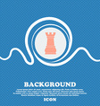 Chess Rook sign Blue and white abstract background vector image