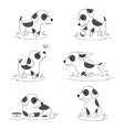 Cute puppy dog doodle character vector image