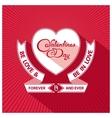 Heraldic valentines day design vector image