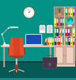 Home workplace of the businessman desk laptop vector image
