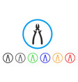 nippers rounded icon vector image