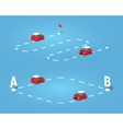 Route Point to point vector image